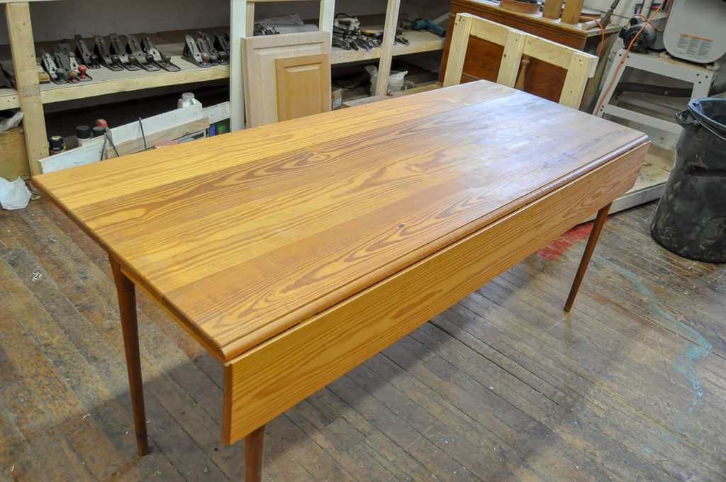 Custom Drop Leaf Yellow Pine Shaker Table