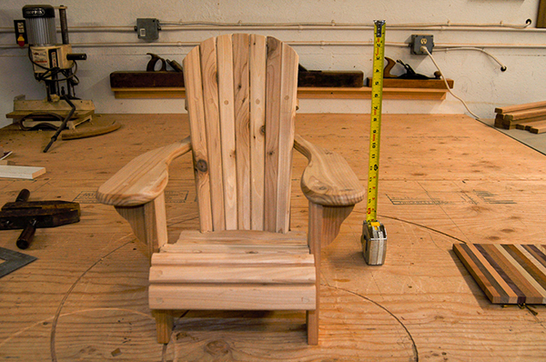 Gary Hecht Woodworker Child's Adirondack Chair