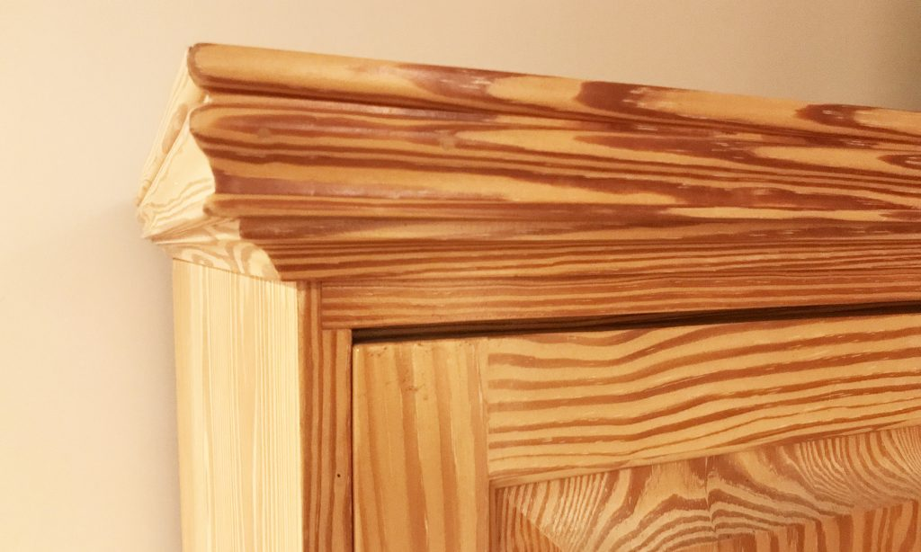 Gary Hecht Woodworker Southern Yellow Pine Desk Inside Top Edge Detail