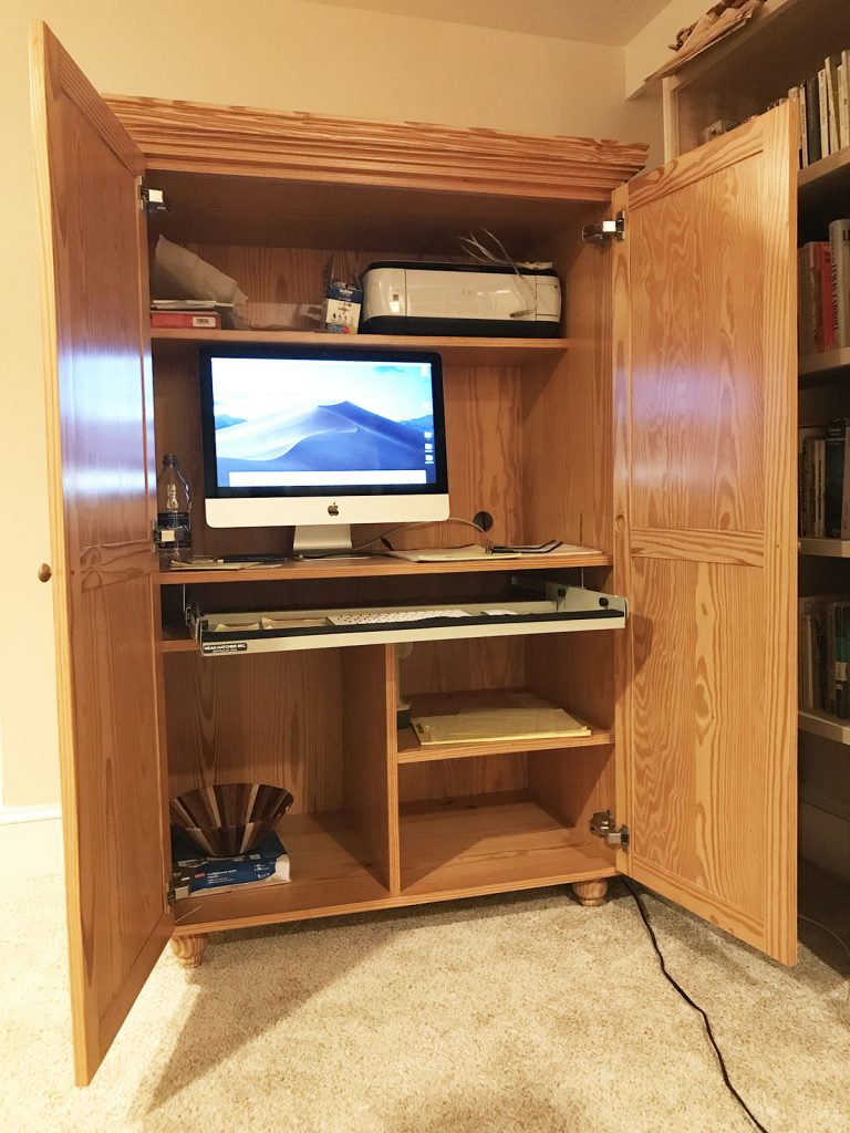 Southern Yellow Pine Desk Inside