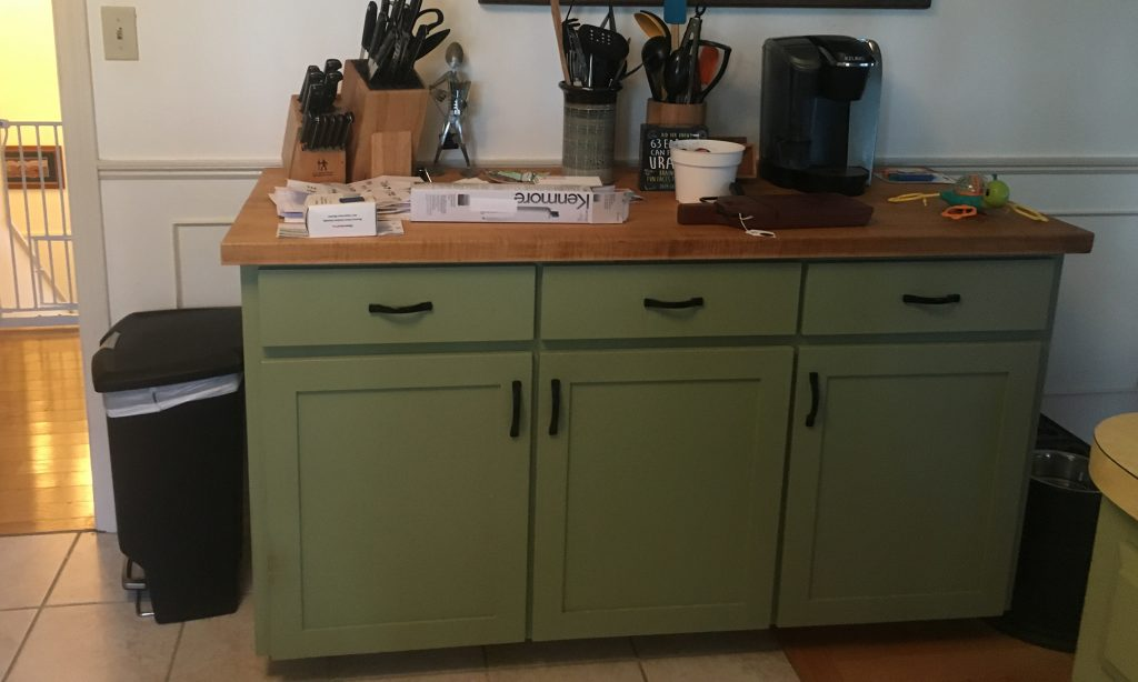 Gary Hecht Woodworker Custom Cabinets and Counter on a Built-In Buffet